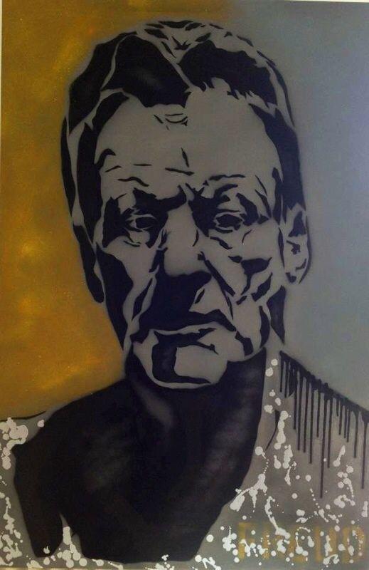 Lucian Freud  Oil & Spray on canvas