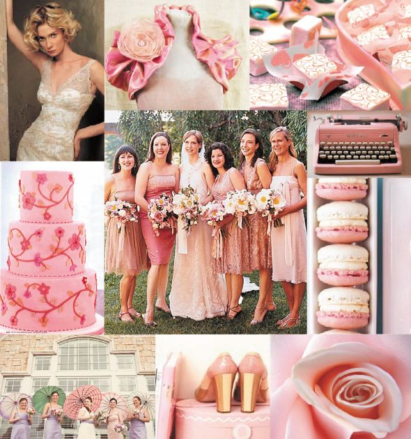 Pink, Champagne, Cream