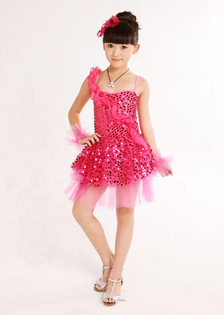 Puff Niño vestido de princesa vestido formal niña desempeño danza moderna traje de la danza del paillette desgaste en Vestidos de Moda y Complementos en AliExpress.com | Alibaba Group