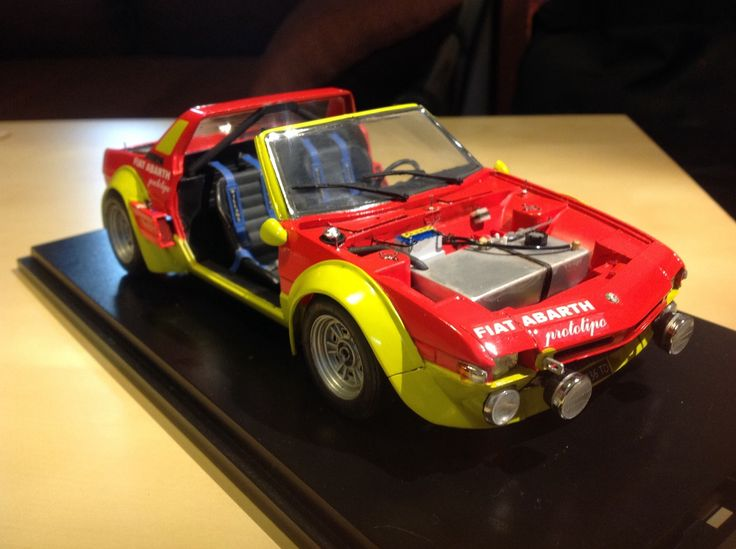 FIAT X1/9 ABARTH Prototipo: Based on Bandai 1/20 FIAT X1/9 motorized kit. Scratch build work. REVIEW No.7 Images https://clubscuderiaitalianafiatx19.blogspot.it/2017/05/fiat-x19-abarth-prototipo-based-on.html