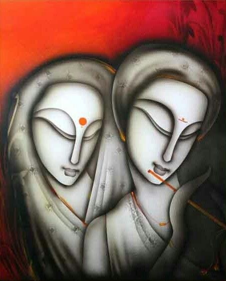 Radha - Krishnan  Buy/Sell paintings and Art prints online at www.abstract4life.com  Find Art work that matches your style.  Rich collection of paintings and sketches.