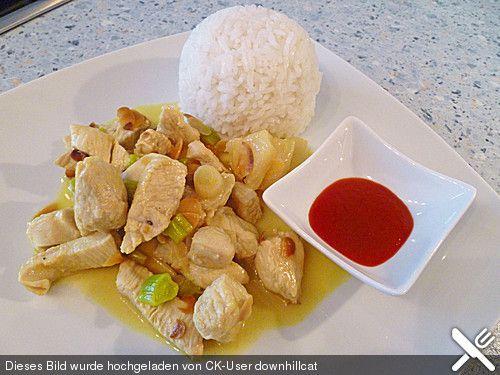 Hähnchen - Ananas - Curry mit Kokosmilch (Rezept mit Bild) | Chefkoch.de