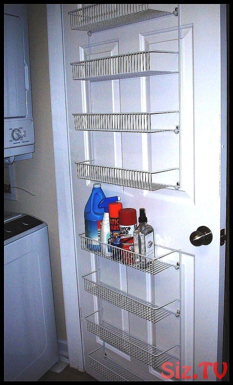 Minimalist Laundry Room With Peerless Cabinet Behind Door Storage
