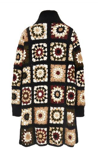 Mixed Media Granny Square Cardigan by ROSETTA GETTY for Preorder on Moda Operandi