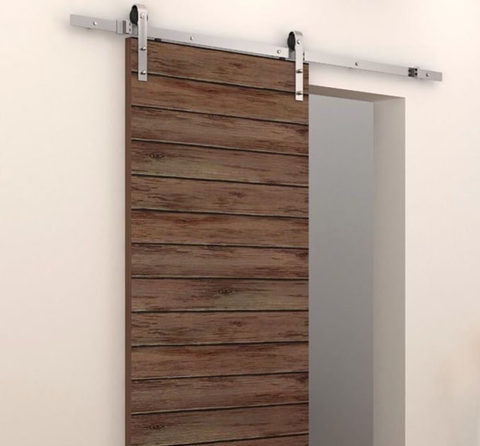 6 ft country stainless steel sliding barn wood door for 9 foot exterior doors