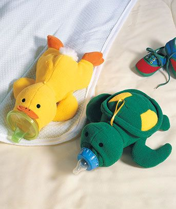 lush Baby Bottle Huggers make adorable shower gifts. These 3-D critters are easy for little hands to grasp, while snug hugs keep milk, water or juice bottles at baby's preferred temperature. Plus, as baby grows, they fit sipper cups too! can i get one in a frog for me