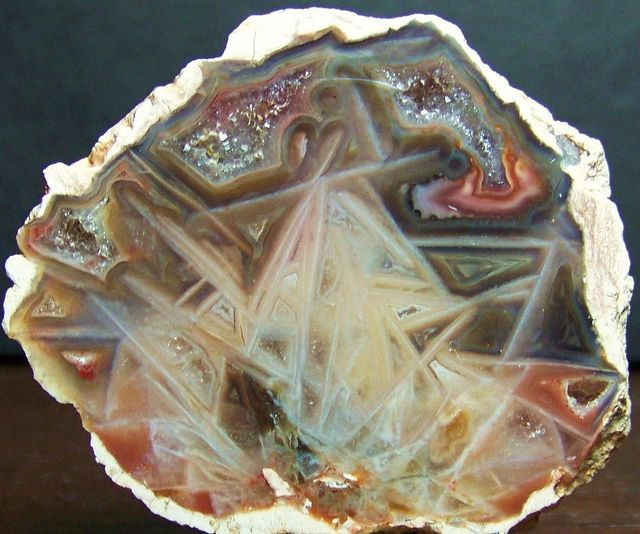 This is described as zeolite pseudomorph.  Maybe someone can verify that?  It's cool, whatever it is.