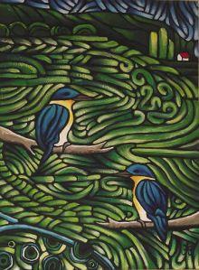 Kingfishers NZ Artist Helen Beech