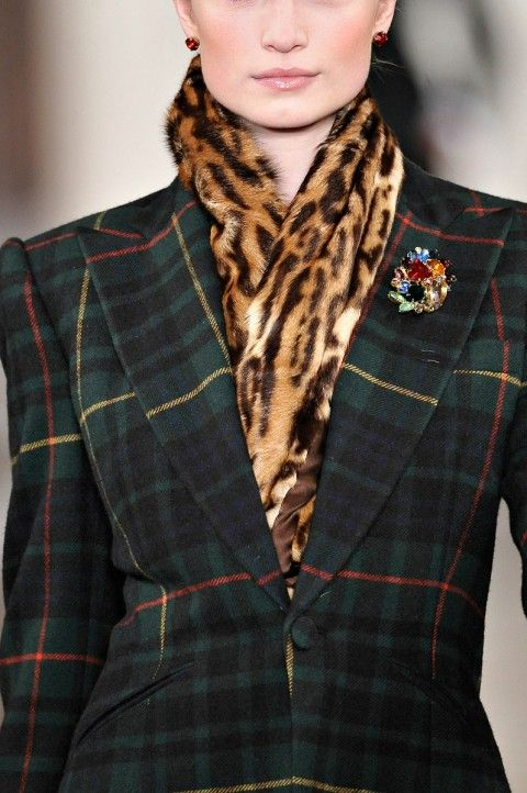 mixing leopard with plaid: ralph lauren: fall '12