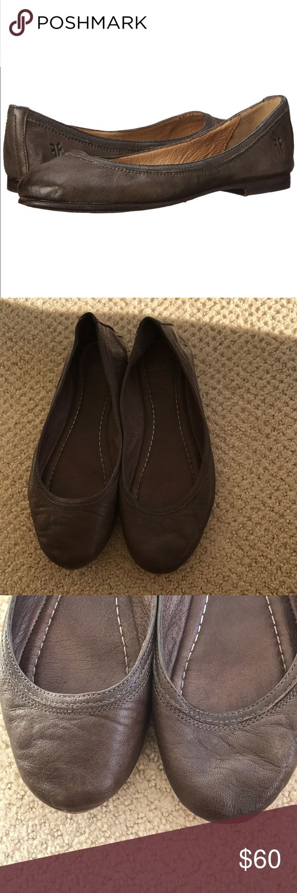 Frye Carson Ballet Flat Frye Carson Ballet Flat Brown Size 6 Minor wear on toe - possible it could be polished out - not noticeable when wearing shoe Frye Shoes Flats & Loafers