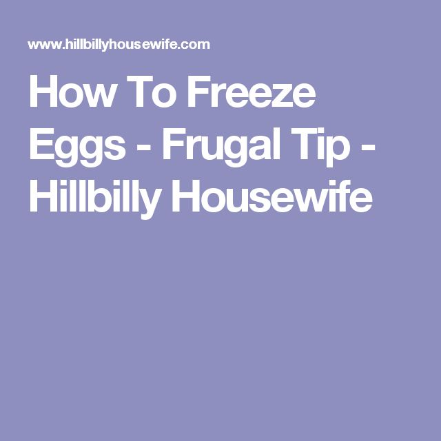 How To Freeze Eggs - Frugal Tip - Hillbilly Housewife