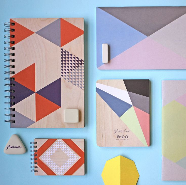 We love a geometric design and we love it more on a notebook