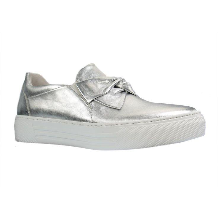 GABOR COMFORT - 66.463 - Damen Slipper - Silber Schuhe in Übergrößen - Gr. 42, 43, 44