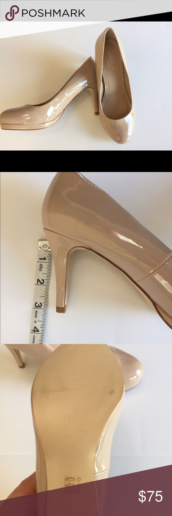 Carvela by Kurt Geiger Nude Pumps Size 40 US 9 NEW Brand new, slight markings on bottom from being tried on in the store. No box or dustbag. Perfect nude heel! Kurt Geiger Shoes Heels