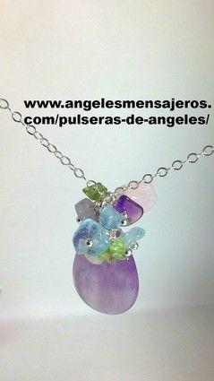 collar en rosa cuarzo-rosa cuarzo-rose quartz-pulseras de los angeles-pulseras de los arcangeles-pulsera del angel