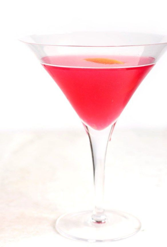 The slightly tangy delicious and pink cosmopolitan for Pink cocktails with vodka