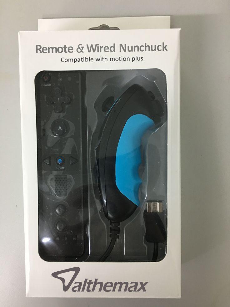 Althemax® New design Non-slip Anti-slip Comfort Grip remote controller nunchuk Basic Black for Nintendo Wii / Wii Mini / Wii U