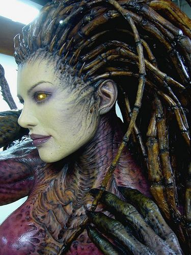 I wish I could talk my dad into making this a costume for me!  Sarah Kerrigan by STARFEEDER, via Flickr