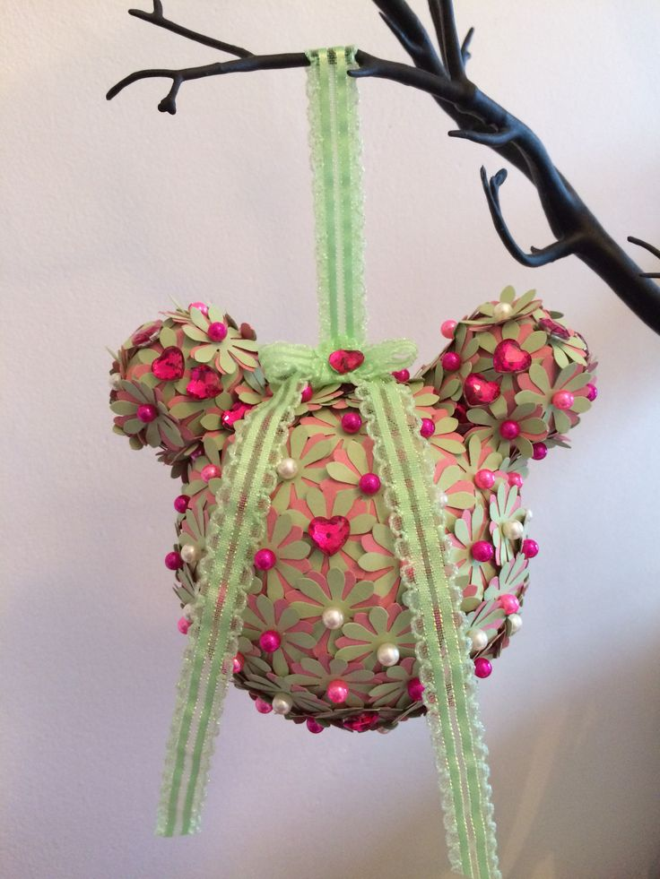 Mouse Head Pomander by Art with Flowers