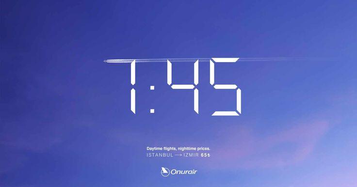 Onur Air: Flight time