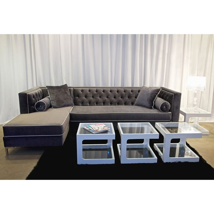 $2451 Decenni Custom Furniture 8-Foot Tobias Sectional   Overstock.com  sc 1 st  Pinterest : sectionals overstock - Sectionals, Sofas & Couches