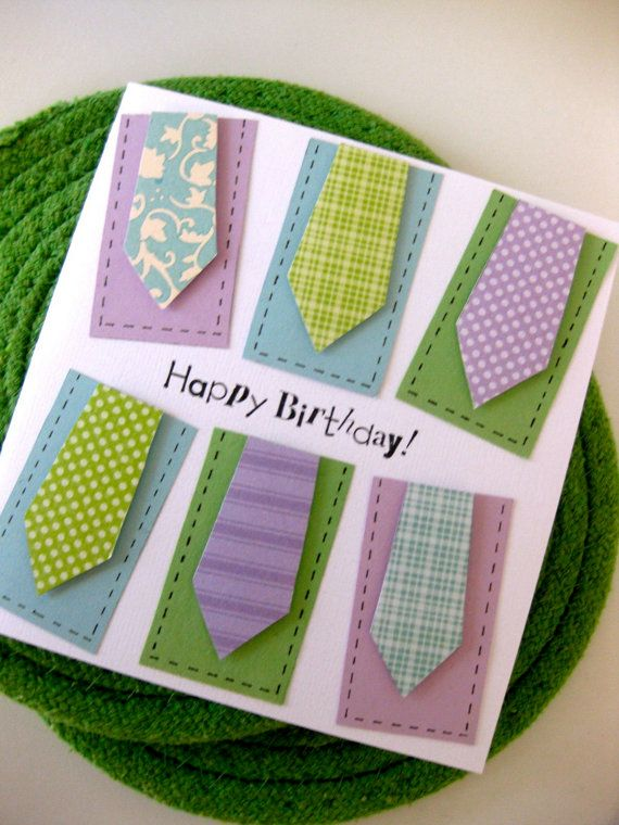 Dad's day card: Happy Birthday, Men Necktie, Man Cards, Men Cards, Guys Cards, Dads Birthday Cards, Dads Day Cards, Awesome Dads, Simple Cards For Male