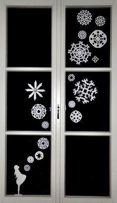 Sterntaler Scherenschnitt fürs Fenster - so schön!