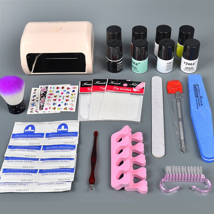 ==> [Free Shipping] Buy Best 6 color uv gel polish 9w timer uv lamp manicure uv gel nail art diy nail tools sets kits nail gel kit Online with LOWEST Price | 32796736545