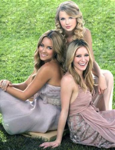 Taylor Swift, Hilary Duff and Lauren Conrad.