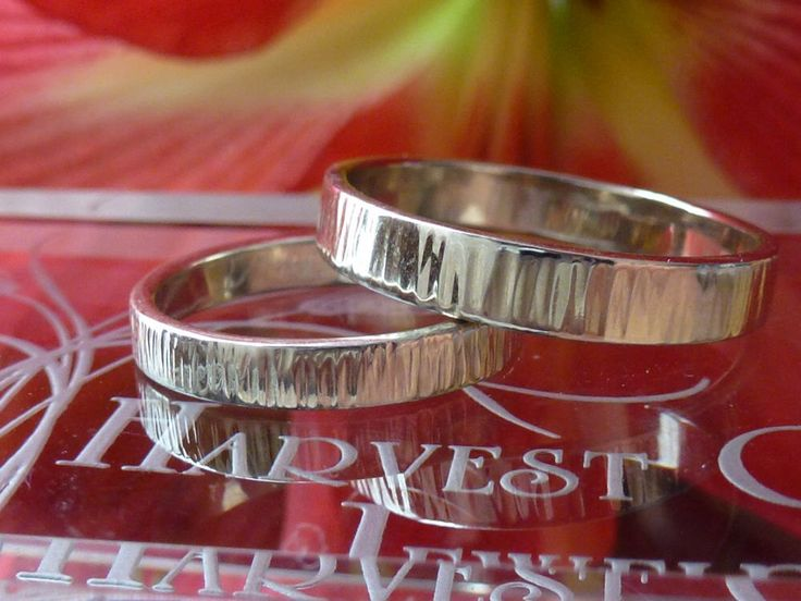 14k White Gold Etched Wedding Band For Him Handmade In Maine By HarvestGoldJewelry On Etsy