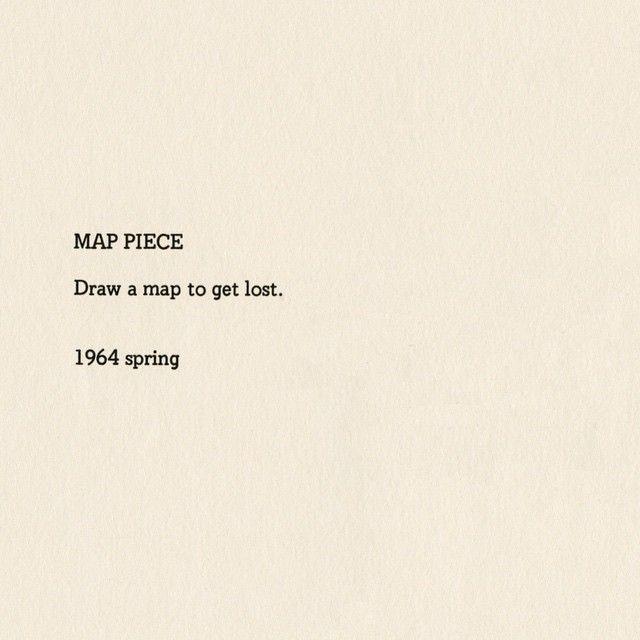 Yoko Ono, Map Piece (1964)
