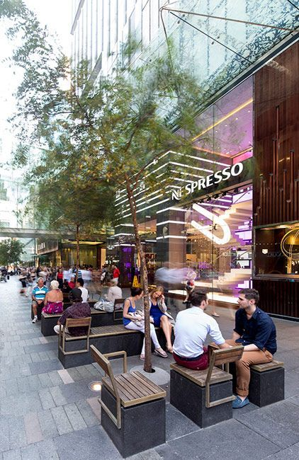 Pitt Street Mall, Sydney, Australia by Tony Caro Architecture, via Landezine. Streets for Everyone >> http://www.pinterest.com/slowottawa/streets-for-everyone/