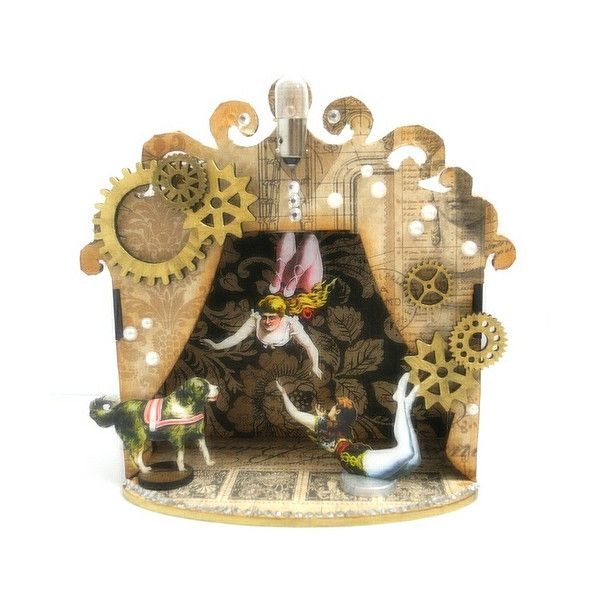 Steampunk Circus and Retro Cafe Art Gallery GIVEAWAY! ❤ liked on Polyvore featuring accessories