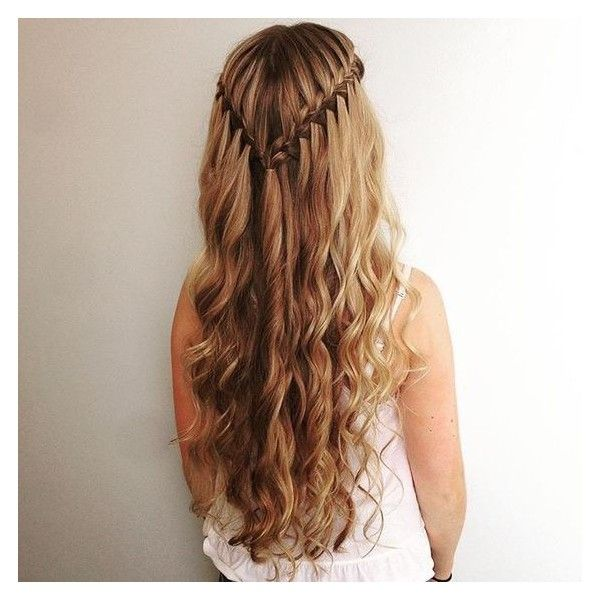 Waterfall Braids ❤ liked on Polyvore featuring accessories and hair