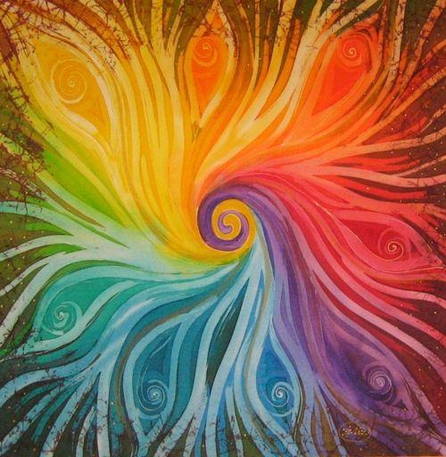 chakra // color wheel // color healing // chakra balancing // spiral // harmony