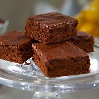 Lighter Brownies - These healthy lighter brownies are only 95 calories with 3 grams of fat.