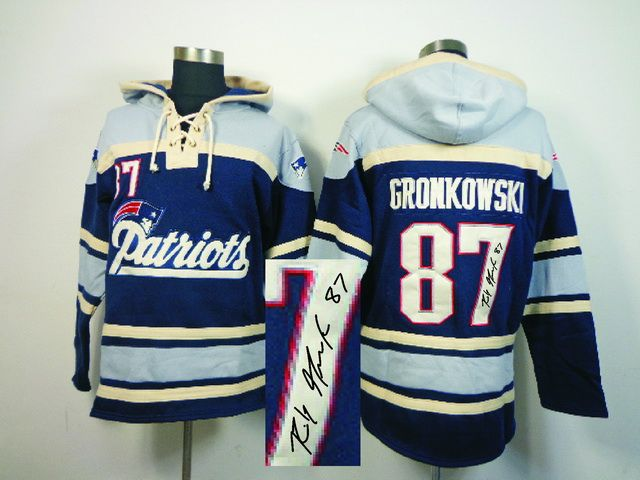 Old Time NFL Jersey Team Hoodie NFL New England Patriots GRONKOWSKI Jersey #87 Signature Hoodies prices USD $40.00 #cheapjerseys #sportsjerseys #popular jerseys #NFL #MLB #NBA