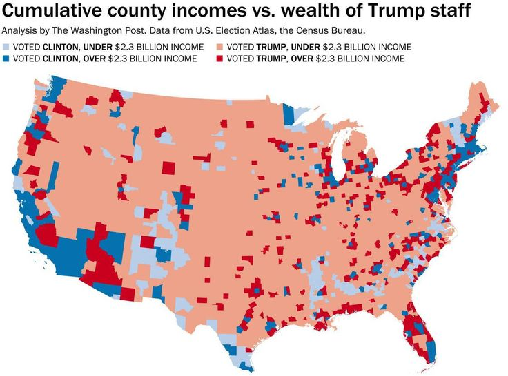 Only about 50 percent of Clinton counties fall under that mark.