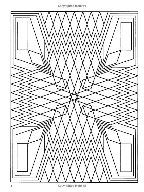 Deco Tech Geometric Coloring Book John Wik Coloring