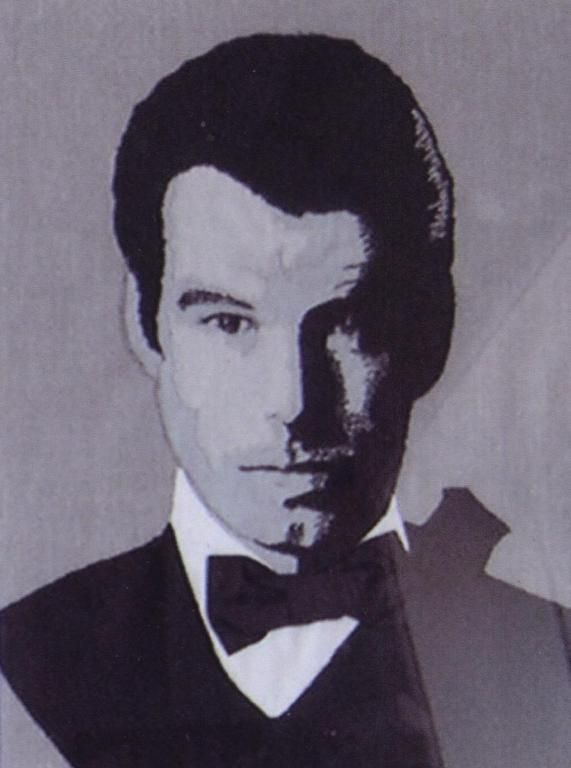 Made this pictureapplication of Pierce Brosnan, for my dear friend and collector Knud Braagaard