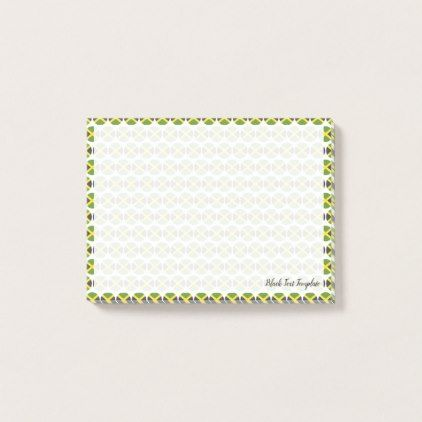Flag of Jamaica Emojis Post-it Notes - black gifts unique cool diy customize personalize