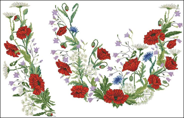 Gallery.ru / Фото #173 - схемы для вышиванок - zhivushaya