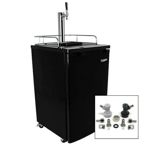 EdgeStar KC2000HMBREW 20 Inch Wide Kegerator and Keg Beer Cooler for Full Size Kegs with Home Brew Tap and Ultra Low Temp (