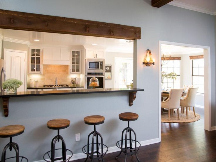 219 best images about home layout open concept on for Turning a galley kitchen into an open kitchen