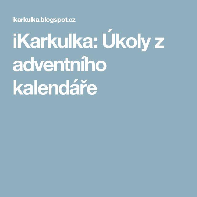 iKarkulka: Úkoly z adventního kalendáře