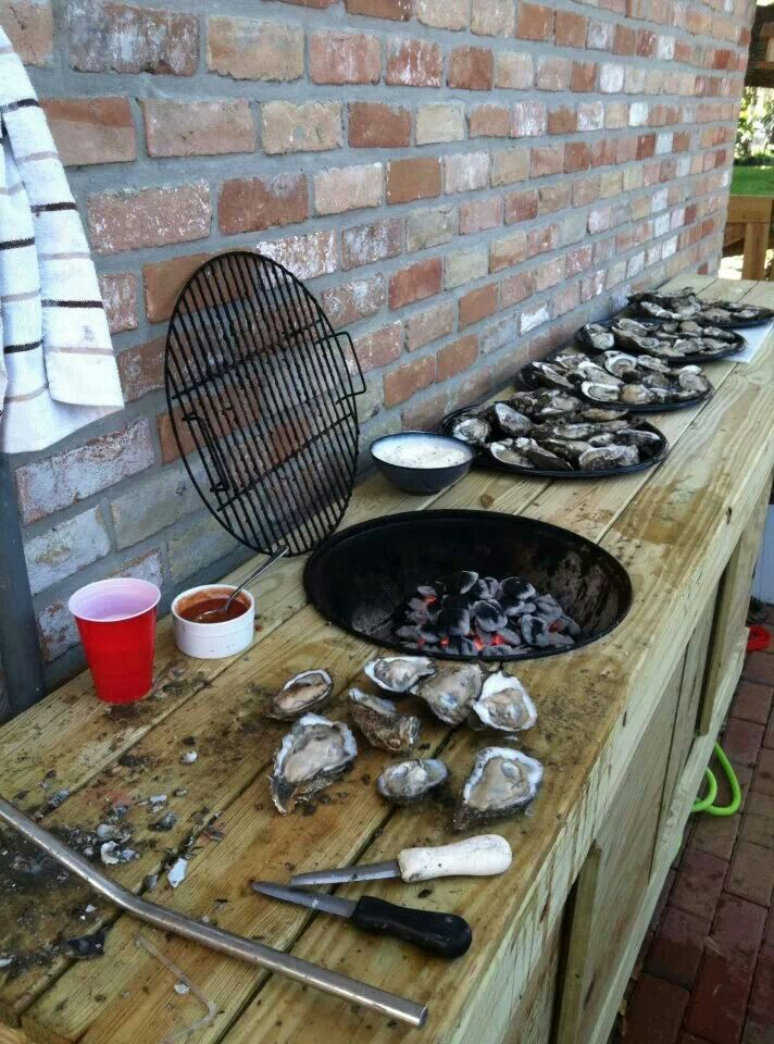 Oyster Shucking Table Cool Stuff Pinterest Tables And Oysters