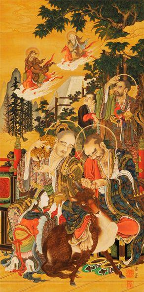 狩野一信 ≪五百羅漢図 第22幅 六道地獄≫ 1854~63年 増上寺蔵