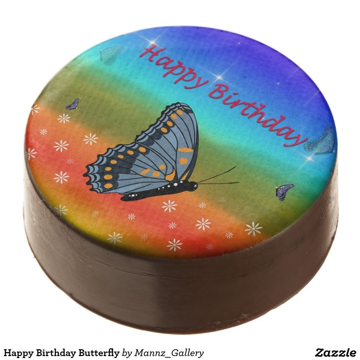 Happy Birthday Butterfly Chocolate Dipped Oreo