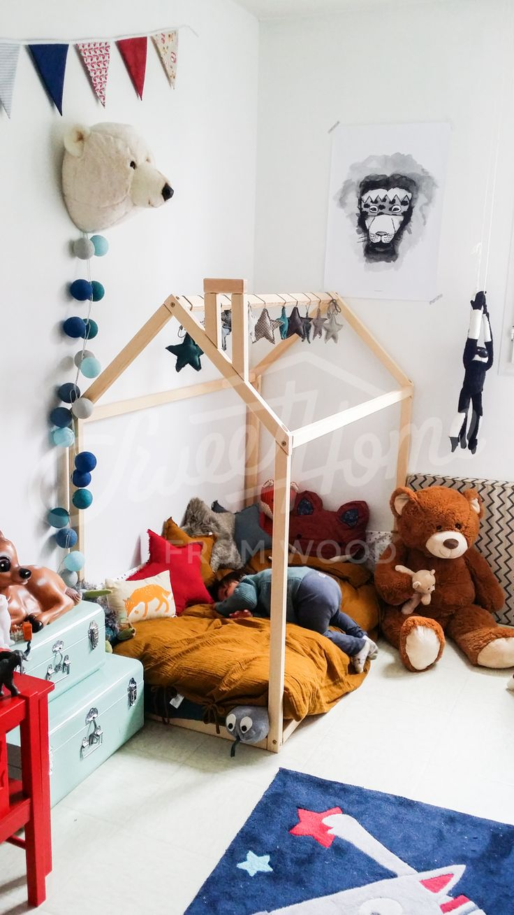 Toddler Bed, Play House Bed Frame, Children Bed, Bunk Bed, Home Bed