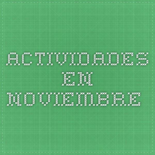 Actividades en Noviembre